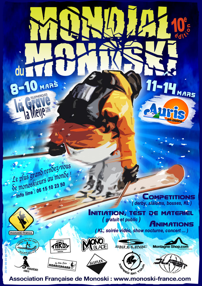 affiche mondial monoski 2010
